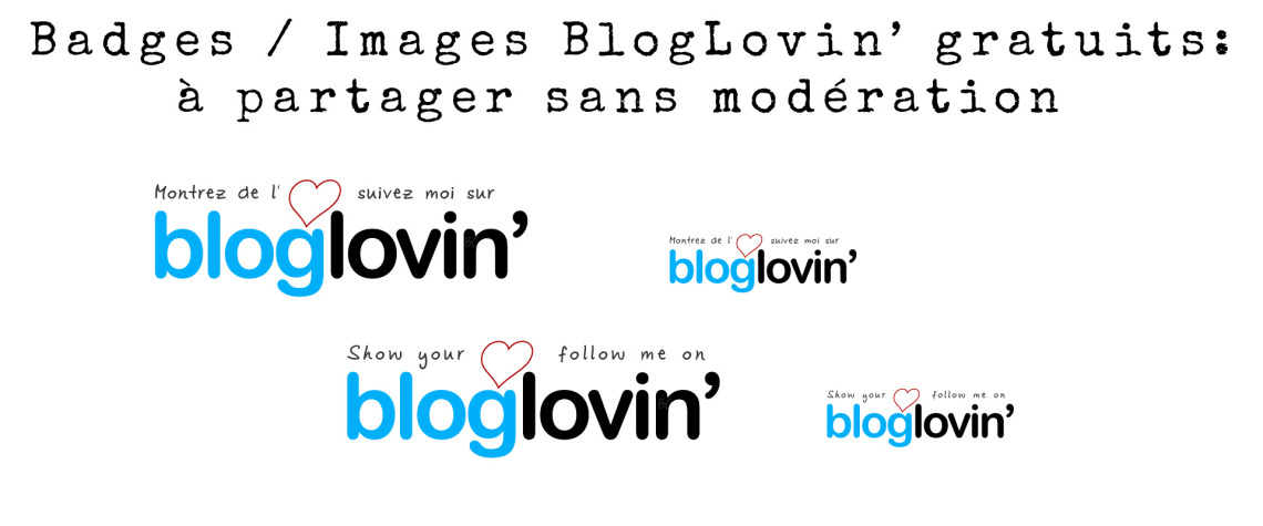 Badges / Images BlogLovin' gratuits: à partager sans modération