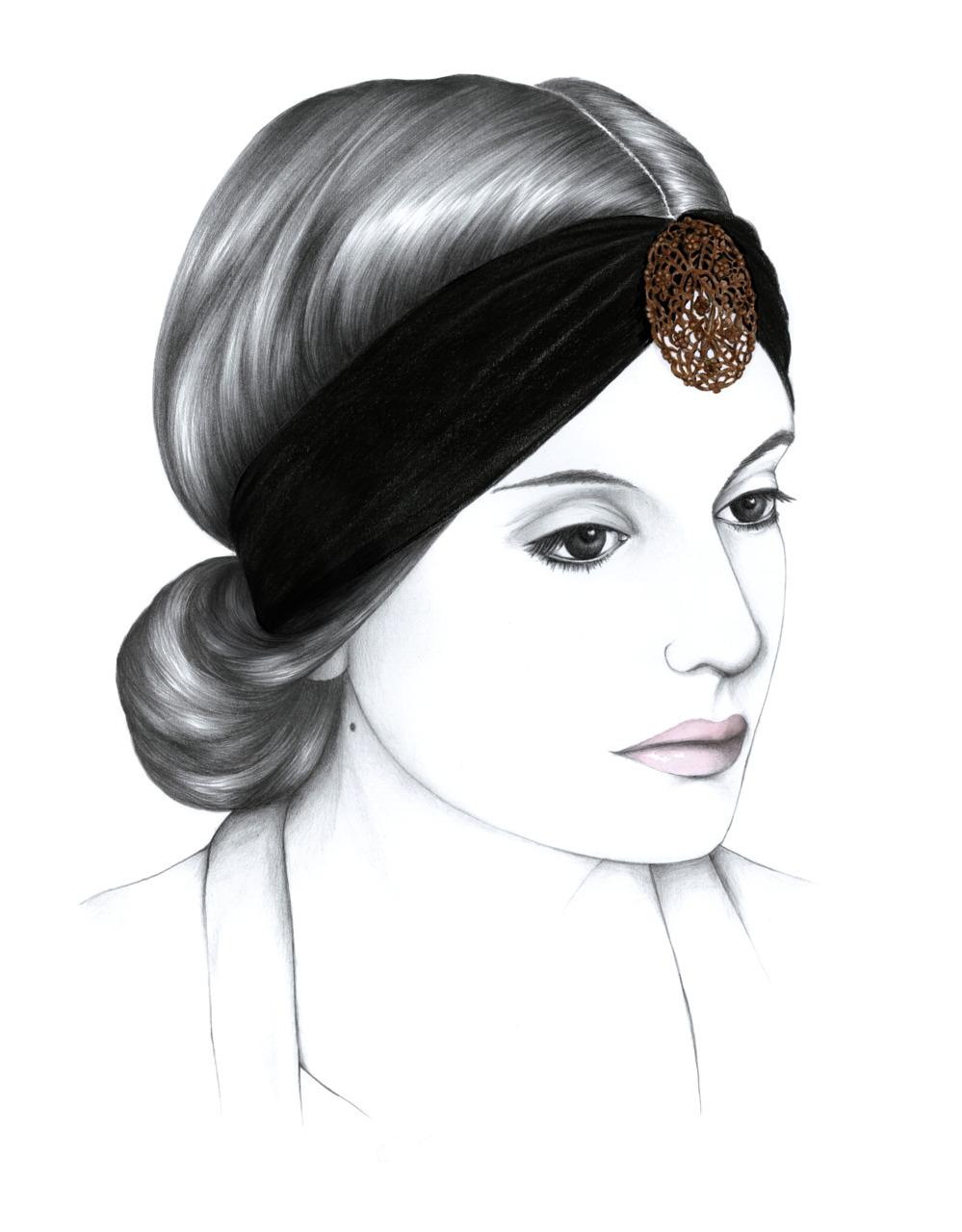 Chignon headband Adeli