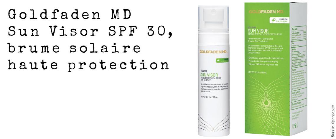 Goldfaden MD Sun Visor SPF 30, brume solaire haute protection