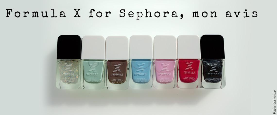 Formula X for Sephora, mon avis