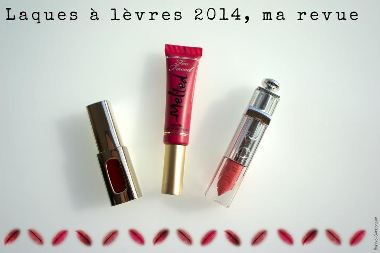 Laques à lèvres 2014, ma revue