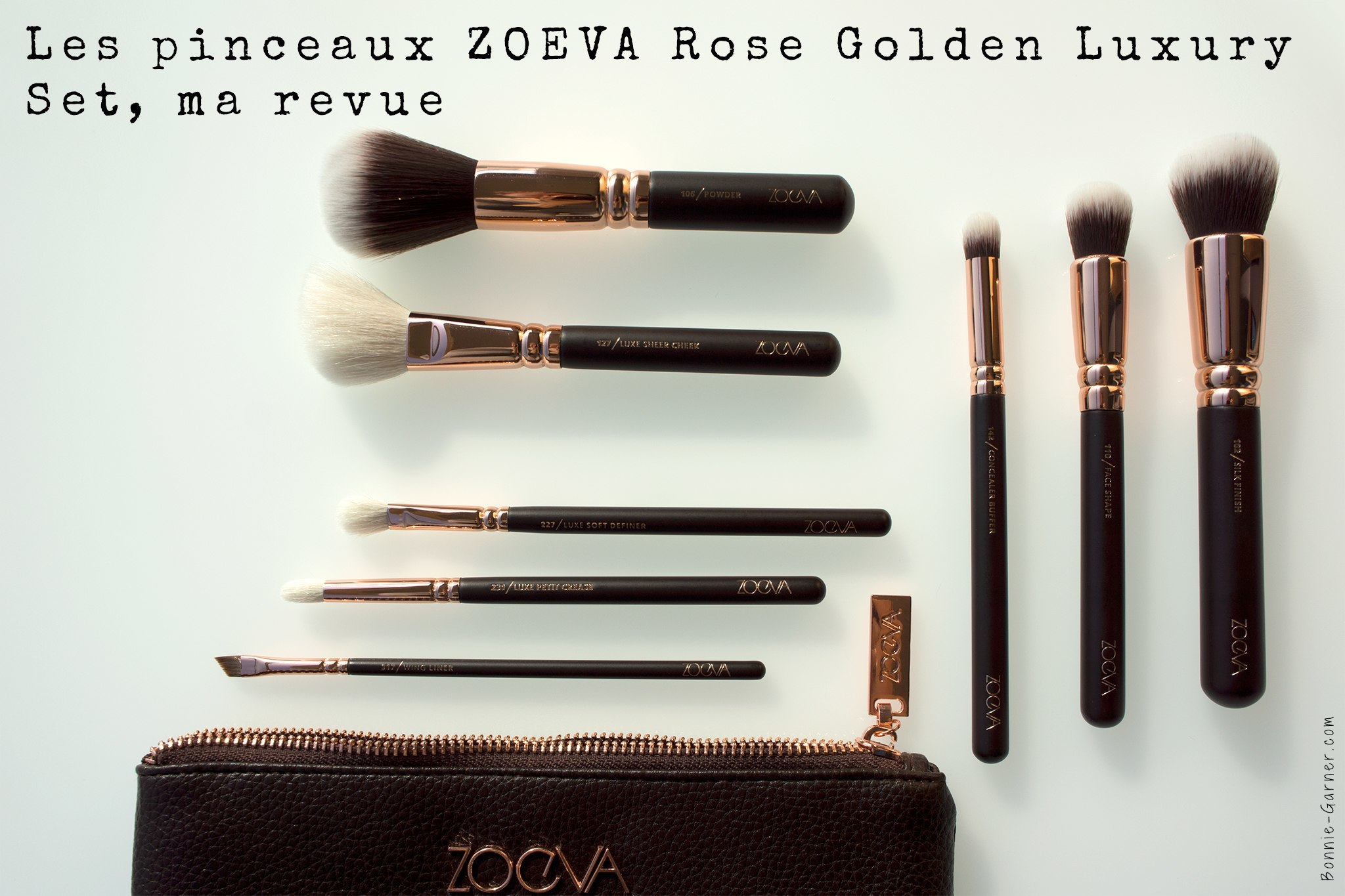 Les pinceaux ZOEVA Rose Golden Luxury Set, ma revue