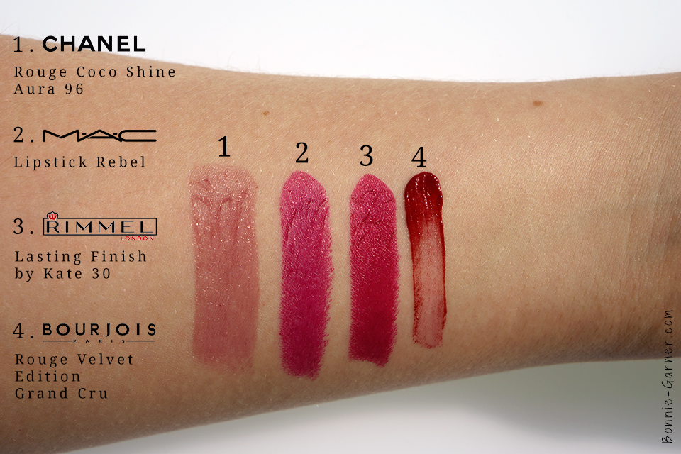 CHANEL MAC Rimmel Bourjois swatches