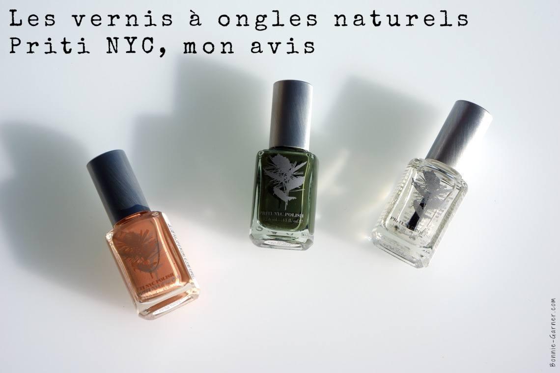 Les vernis à ongles naturels Priti NYC, mon avis