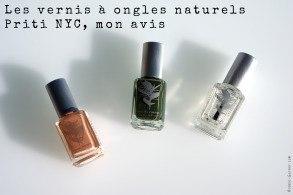 Les vernis naturels Priti NYC, mon avis