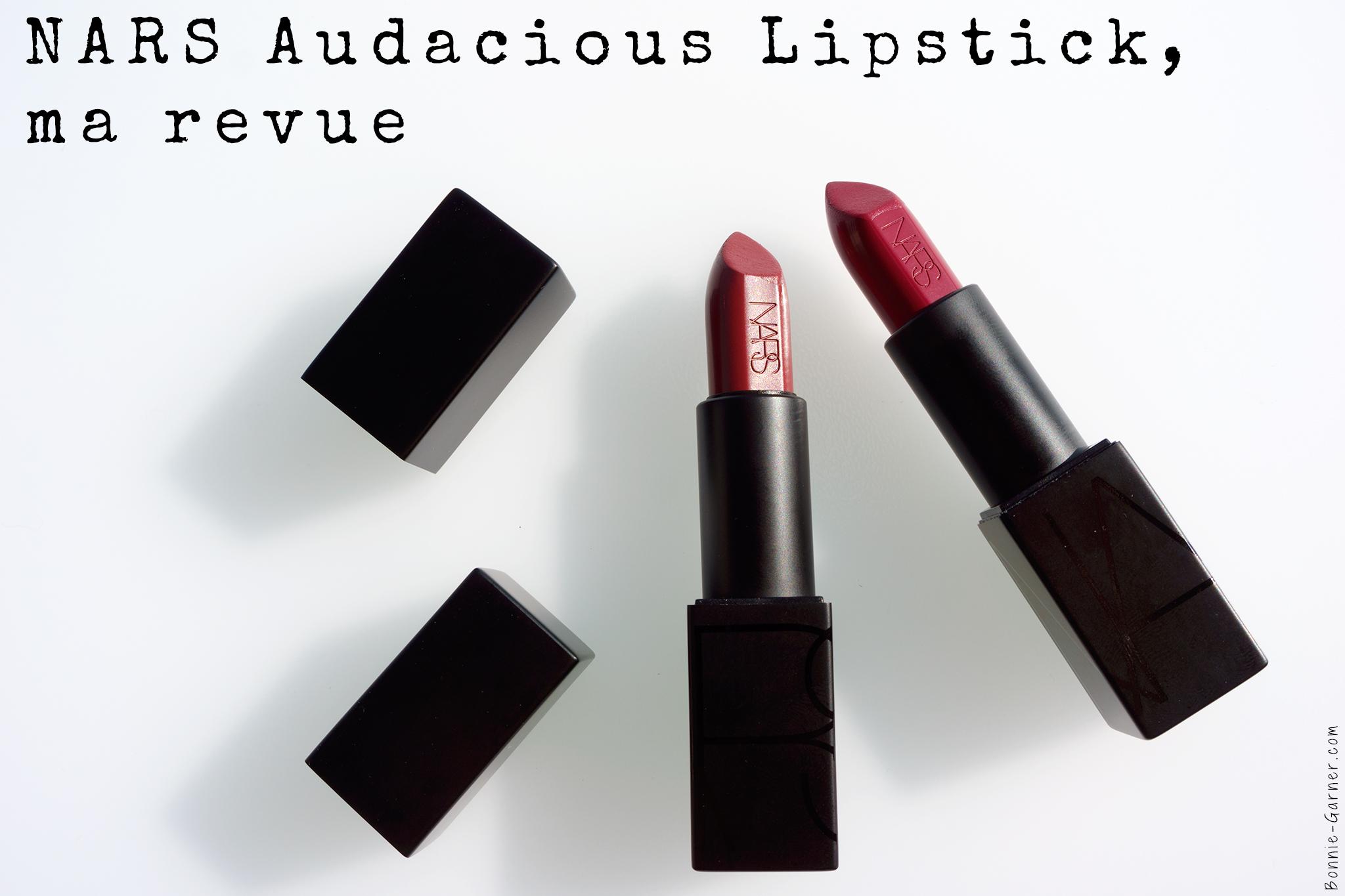 Les rouges à lèvres Nars Audacious lipstick, ma revue