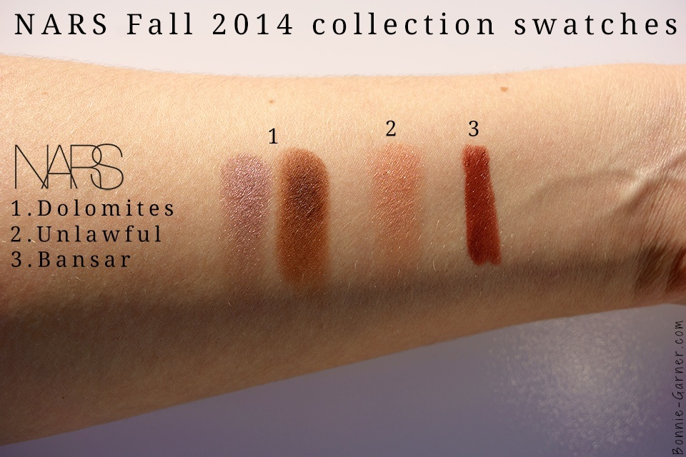 NARS Fall 2014 collection swatches