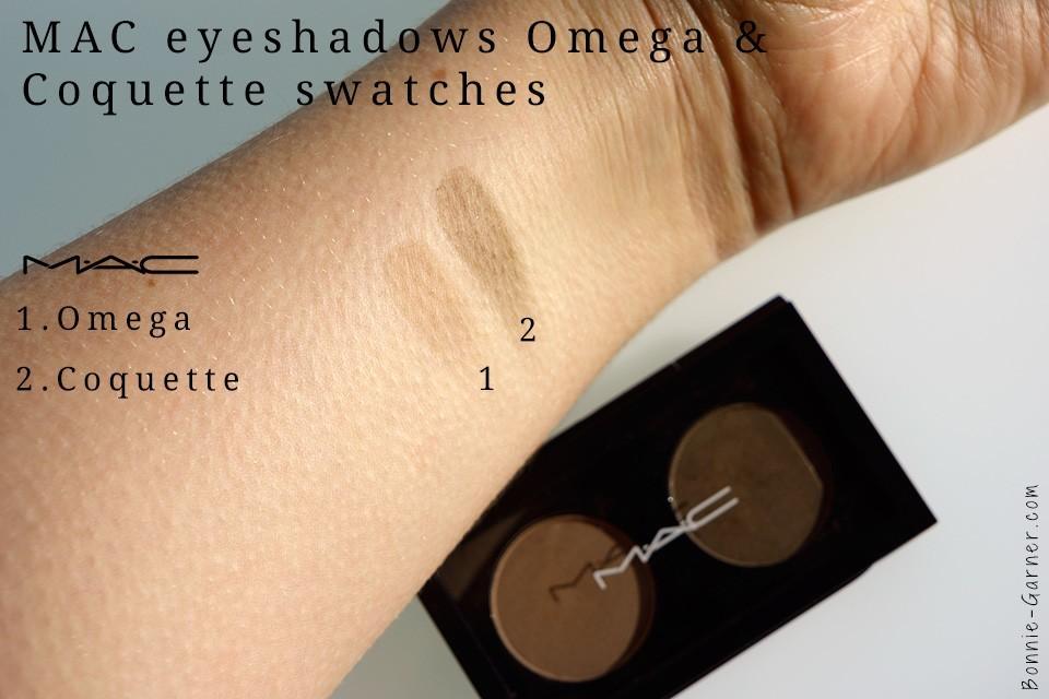 MAC eyeshadows Omega Coquette swatches