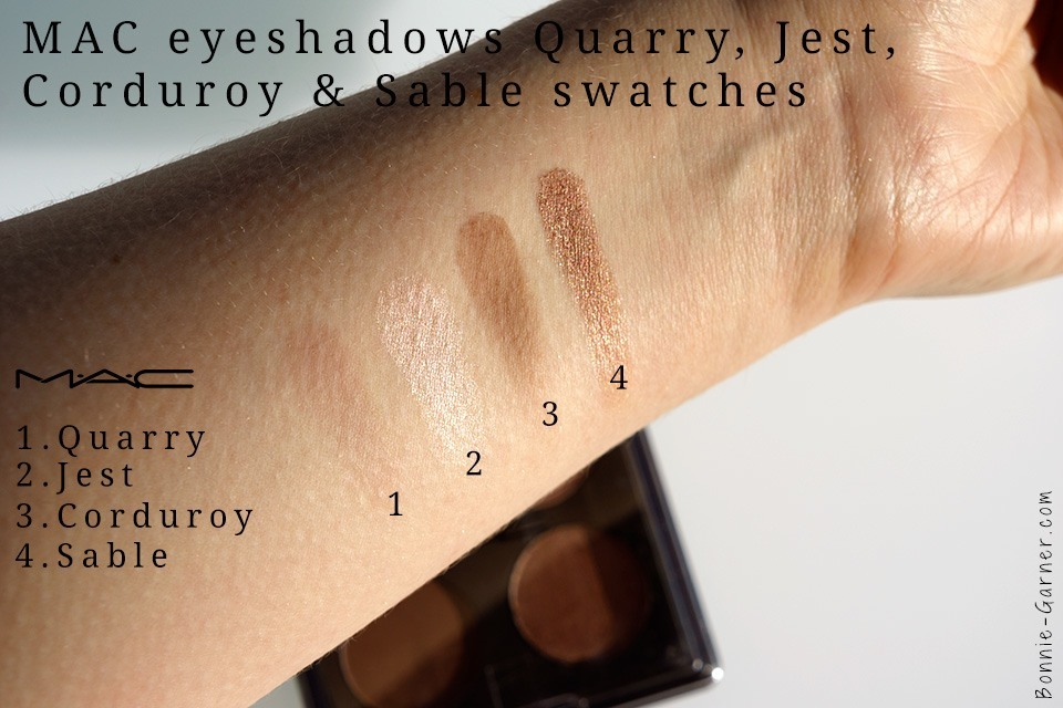MAC eyeshadows quarry jest corduroy sable