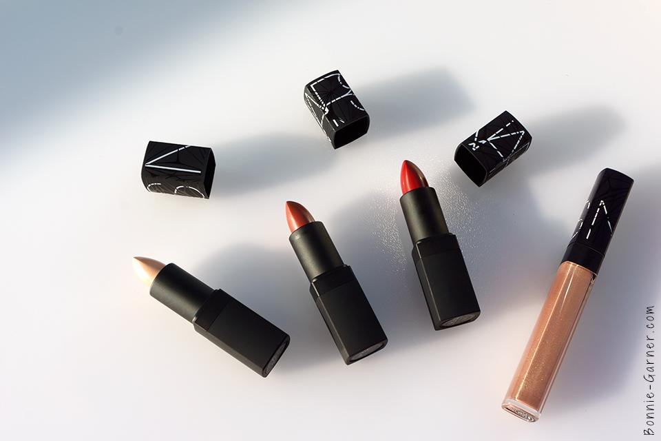 Les rouges à lèvres Adriatic, Femme Fleur et Deadly Catch et le gloss Soleil d'Orient
