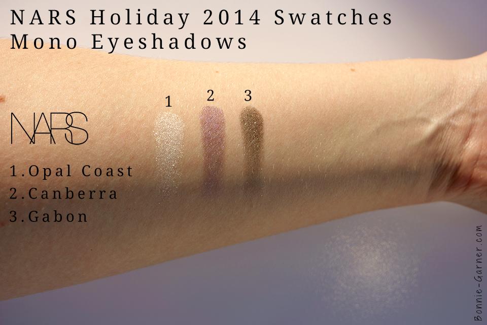 Opal Coast, Canberra, Gabon mono eyeshadows