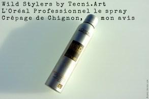 Wild Stylers by Tecni.Art L'Oréal Professionnel le spray Crêpage de Chignon, mon avis