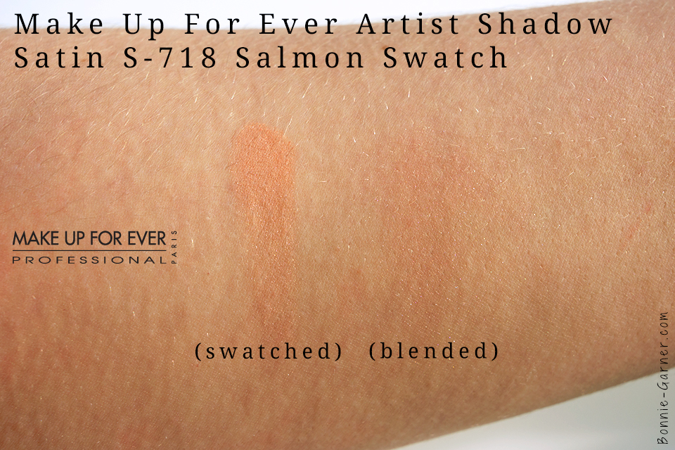 MUFE Satin Artist Shadow Salmon Swatch