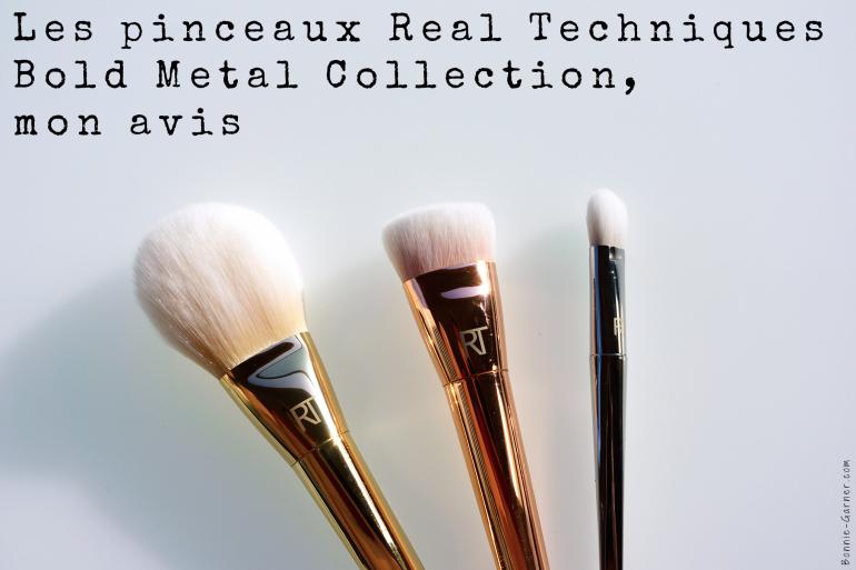 Les pinceaux Real techniques Bold Metals Collection, mon avis