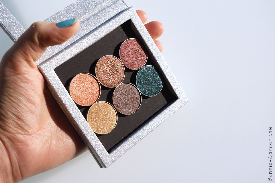 Makeup Geek Foiled eyeshadows In The Spotlight Grandstand Showtime Magic Act Mesmerized Houdini Z Palette