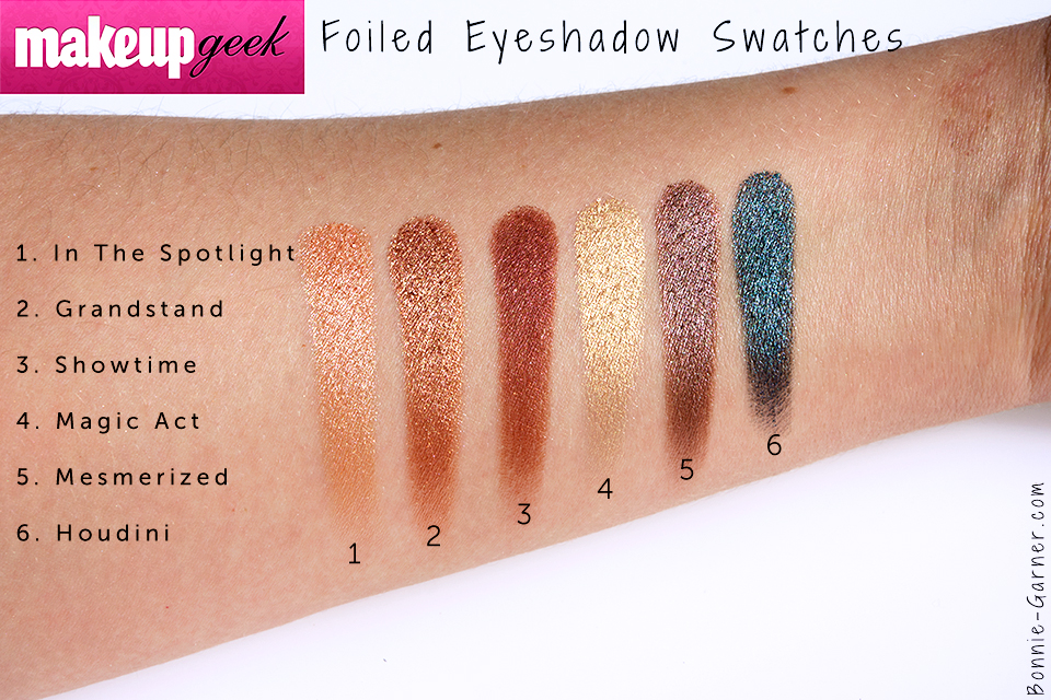 Populaire Makeup Geek Foiled eyeshadows, my review | Bonnie Garner  MC52