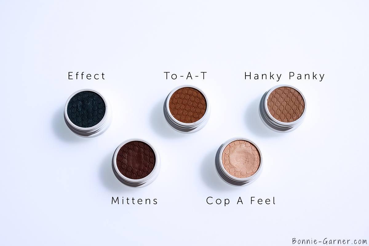ColourPop Super Shock Eyeshadows Effect, Mittens, Cop A Feel, To A T, Hanky Panky