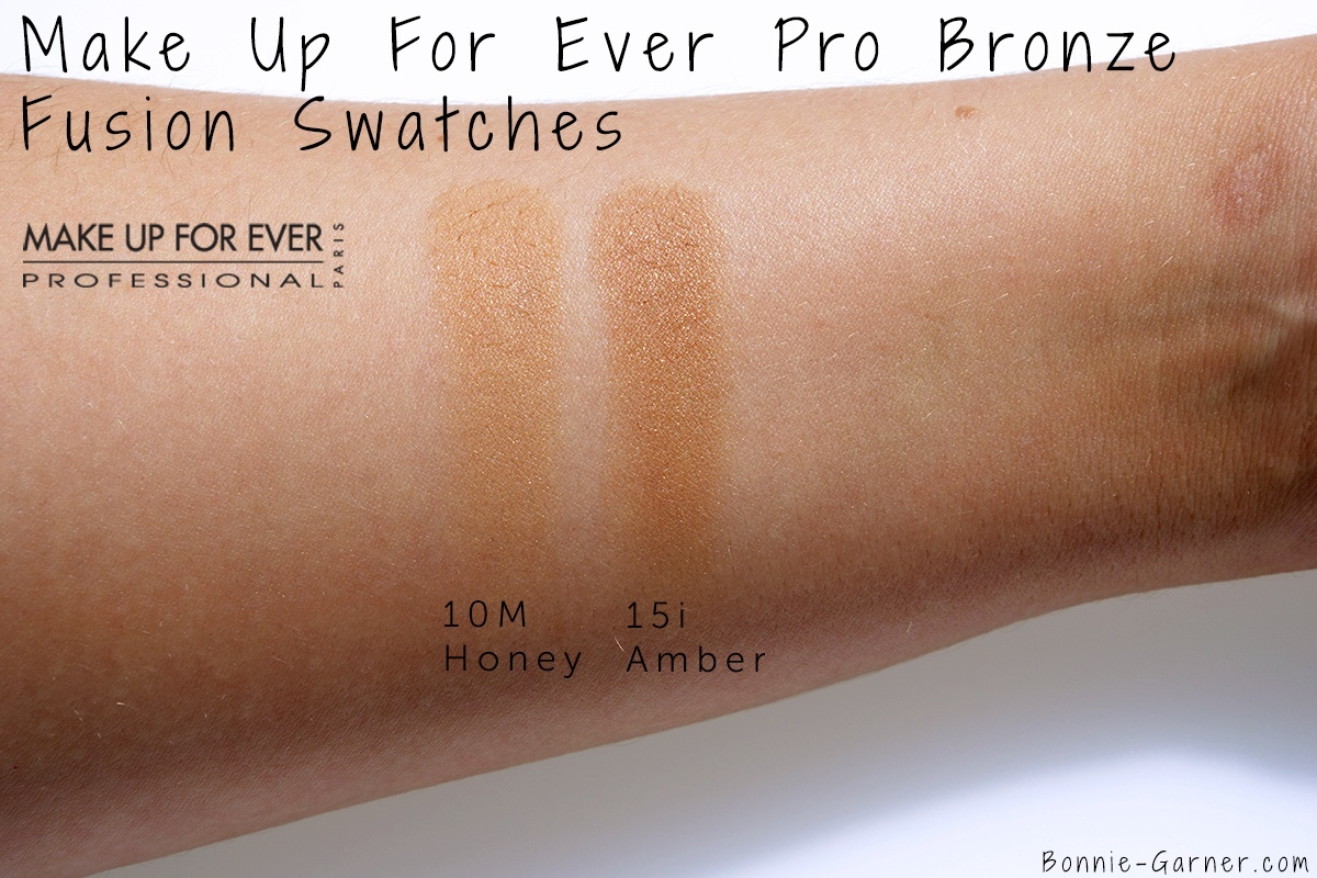 Make Up For Ever Pro Bronze Fusion 10M, 15i swatches