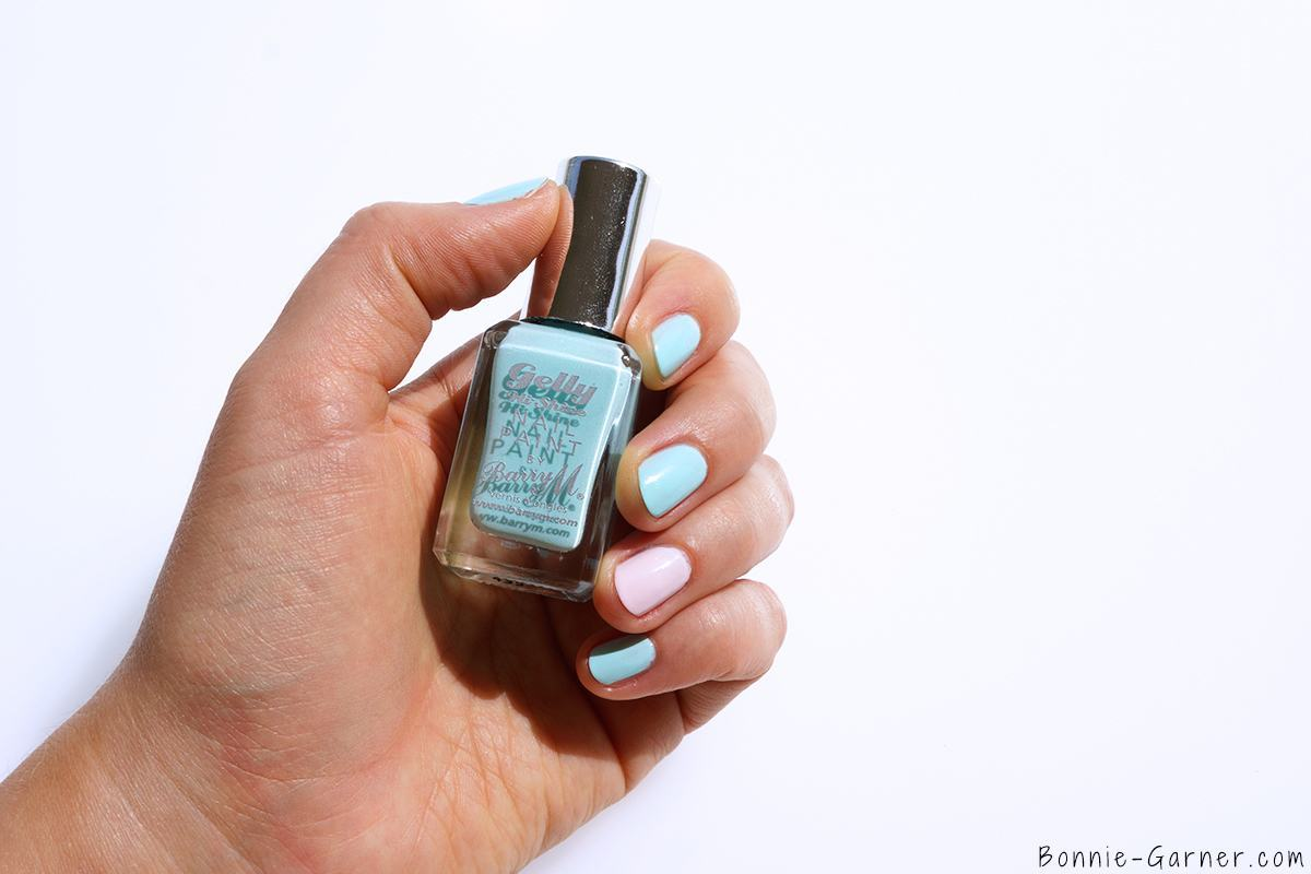 Barry M Gelly Hi Shine Nail Polishes Sugar Apple & Rose Hip