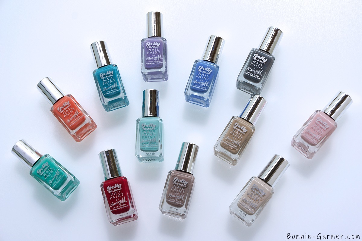 Barry M Gelly Hi Shine Nail Polishes