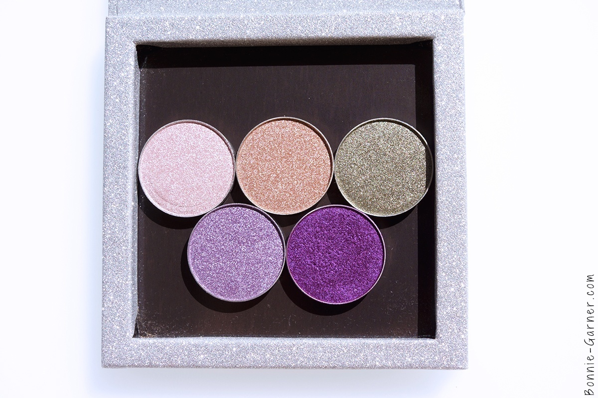 Makeup Geek Foiled eyeshadows Whimsical, Starry Eyed, Charmed, Day Dreamer, Masquerade.