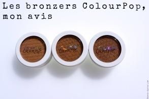 Les bronzers ColourPop, mon avis