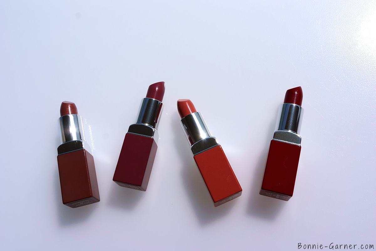 Clinique Pop Lipstick Bare Pop, Melon Pop, Plum Pop, Cherry Pop