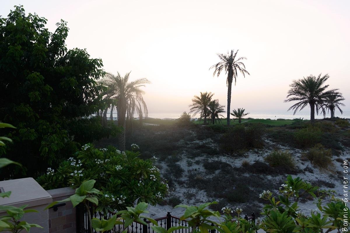 St Regis Abu Dhabi beach sunset