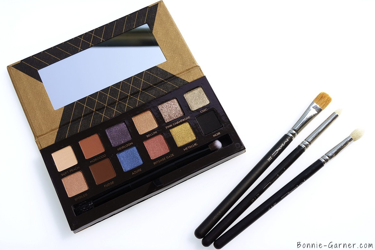 Anastasia Beverly Hills Shadow Couture World Traveler eyeshadow palette & MAC brushes
