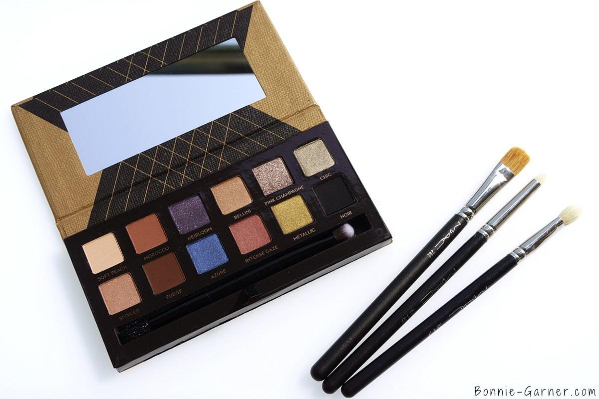 Anastasia Beverly Hills Shadow Couture World Traveler eyeshadow palette & MAC brushes