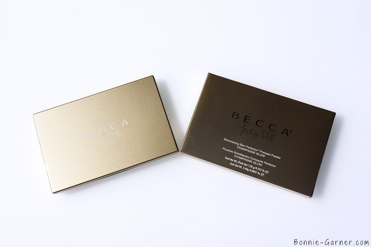 BECCA Shimmering Skin Perfector Pressed Champagne Glow palette packaging