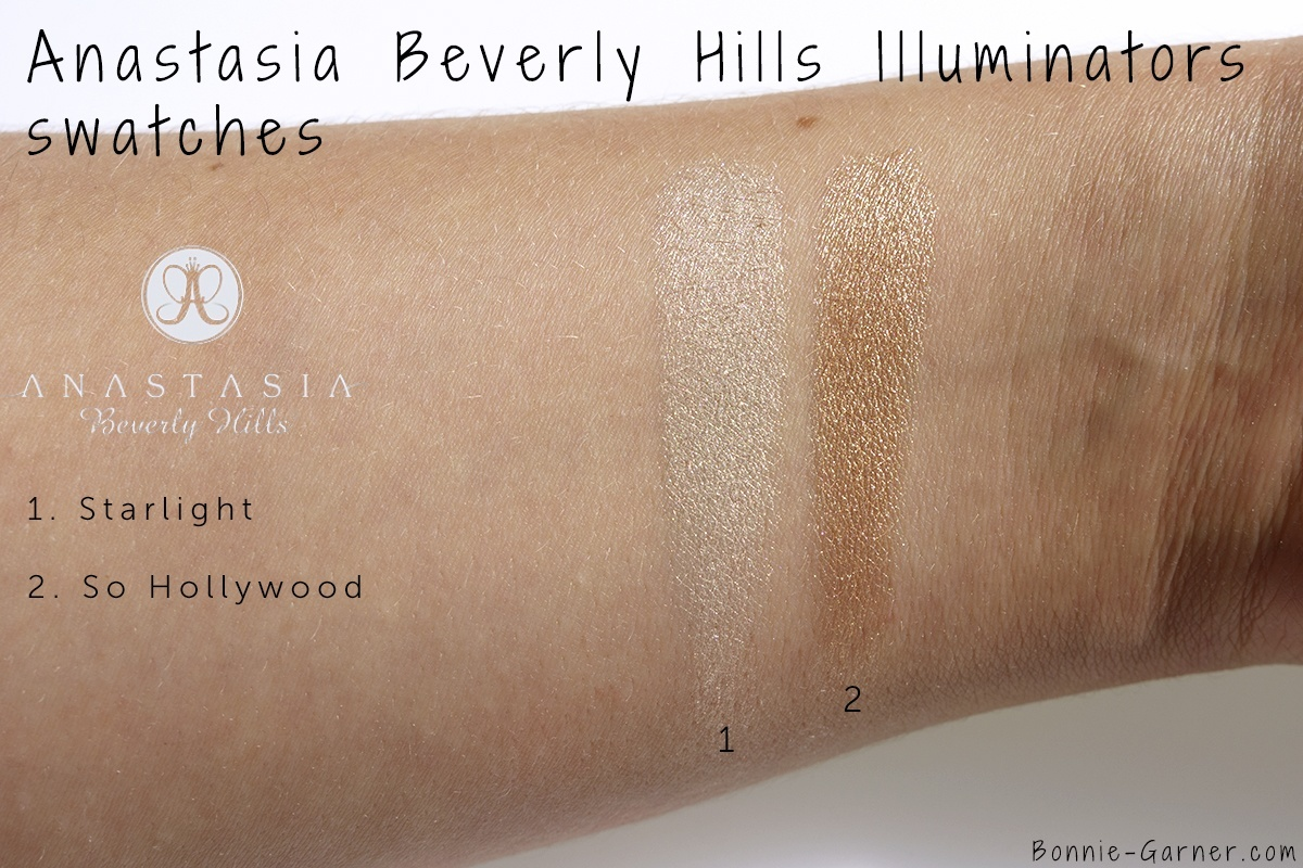 Anastasia Beverly Hills Illuminator Starlight, So Hollywood swatches