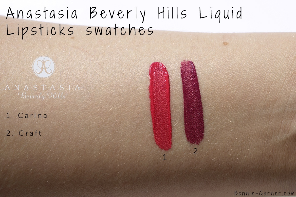 Anastasia Beverly Hills Liquid Lipstick Carina, Craft swatches