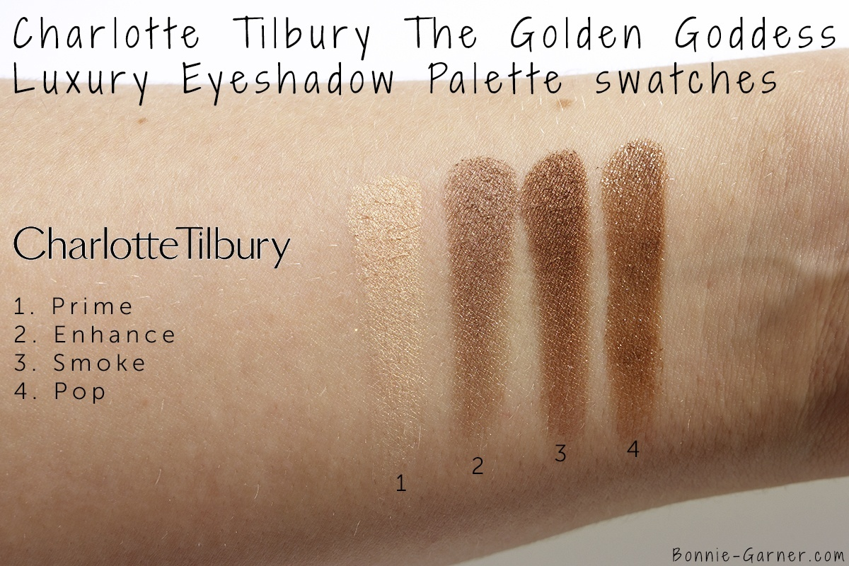 The Golden Goddess Luxury Eyeshadow Palette swatches
