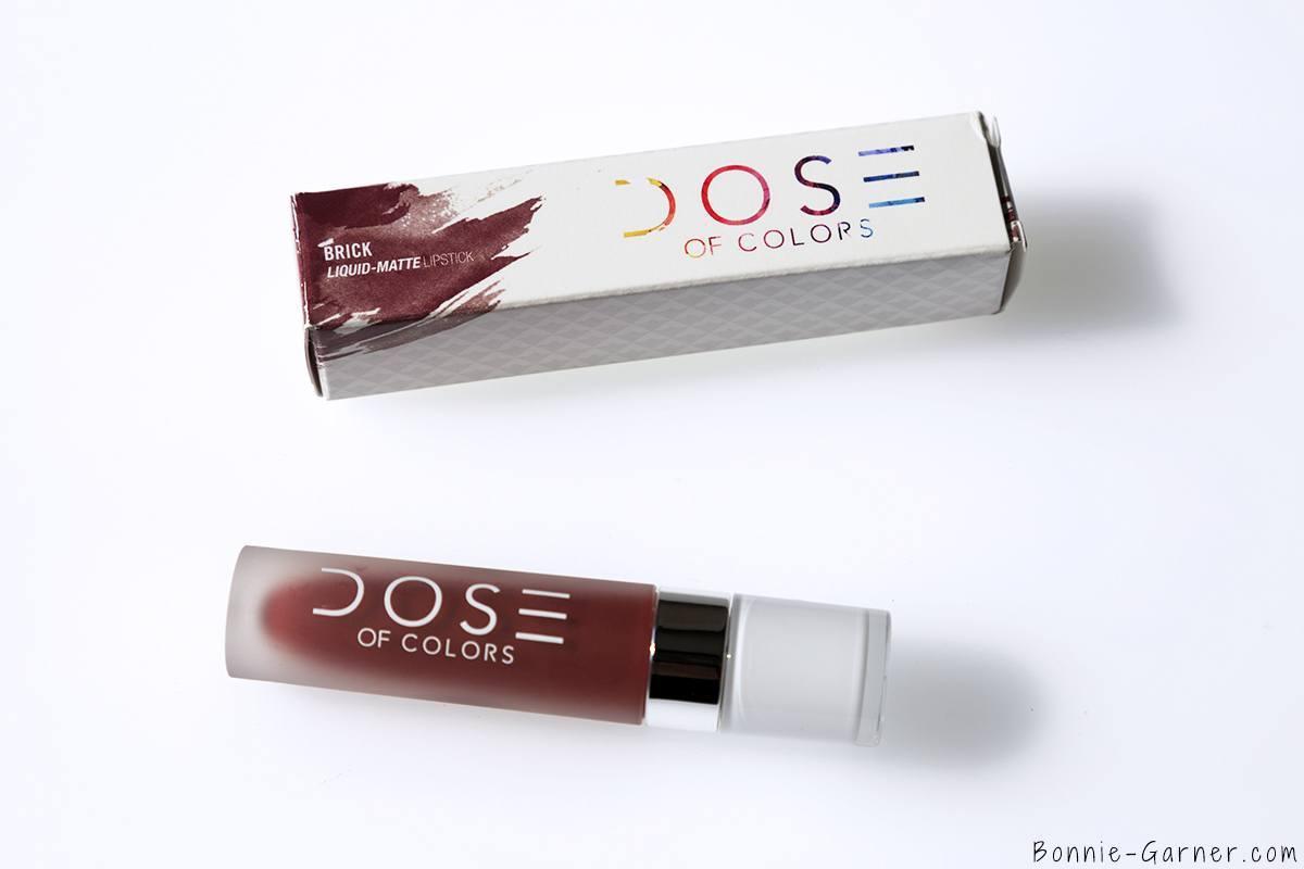 Dose Of Colors matte liquid lipstick Brick packaging