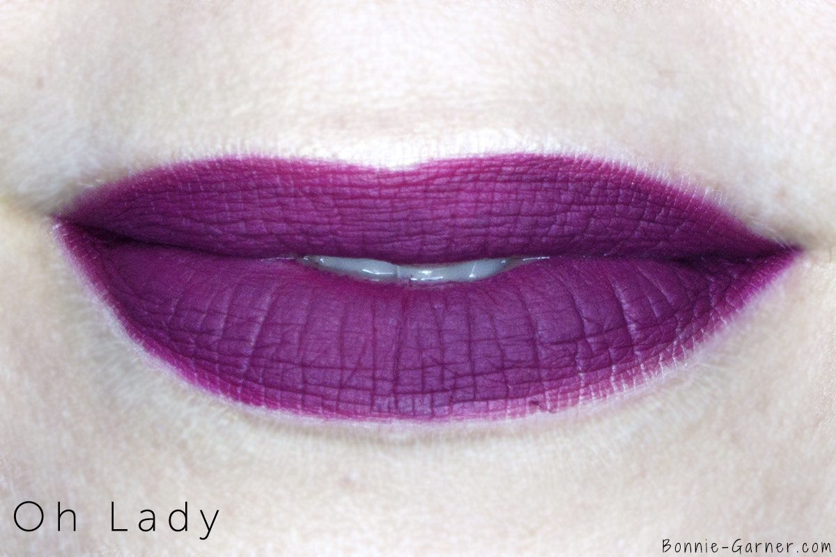 MAC Retro Matte Liquid Lipstick Oh Lady lip swatch
