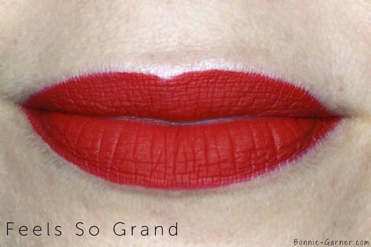 MAC Retro Matte Liquid Lipstick Feels So Grand lip swatch
