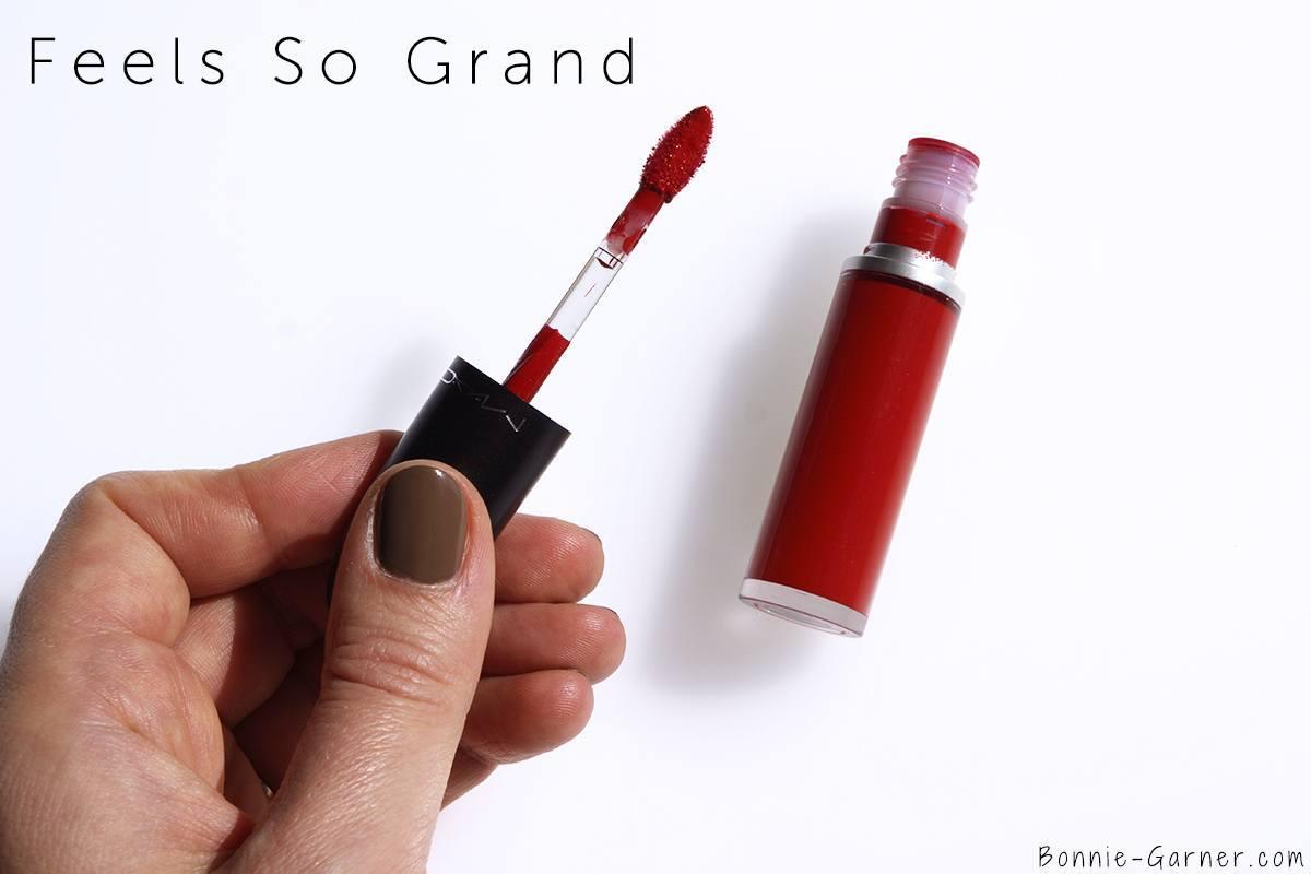 MAC Retro Matte Liquid Lipstick Feels So Grand
