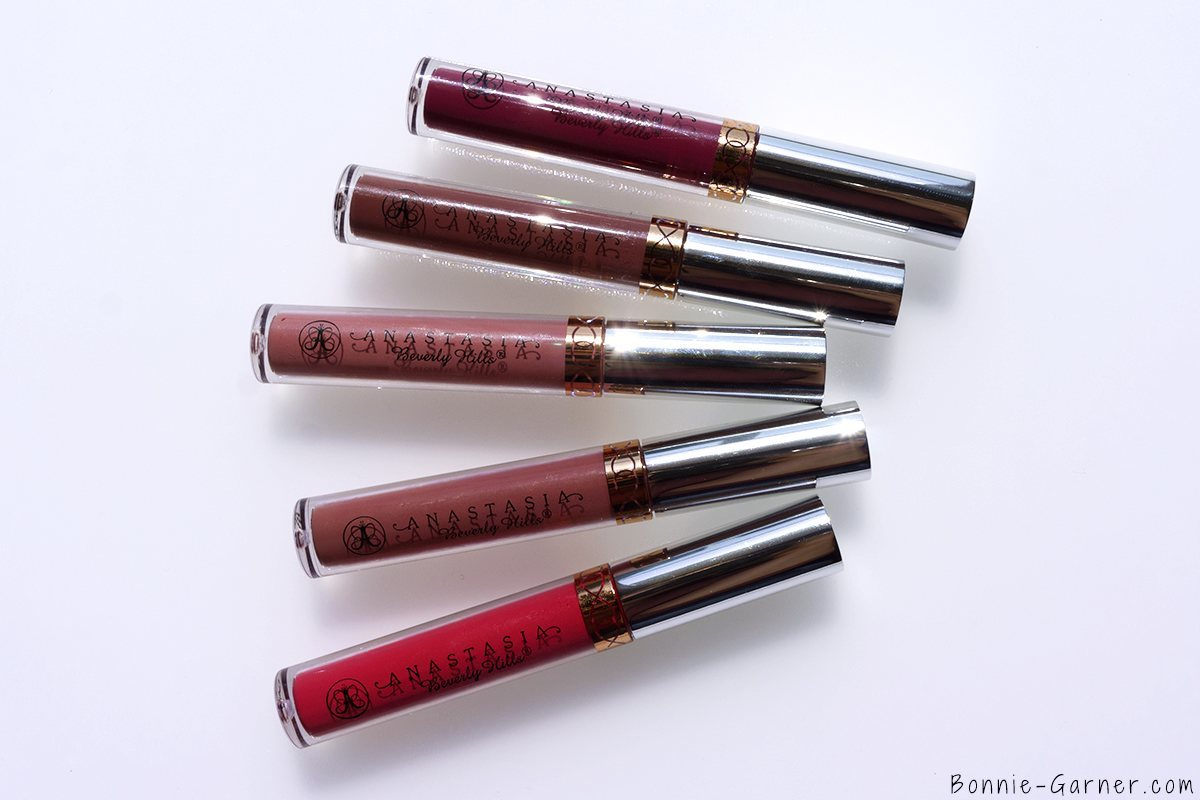 Anastasia Beverly Hills Liquid Lipstick Carina, Craft, Lovely, Dusty Rose, Veronica