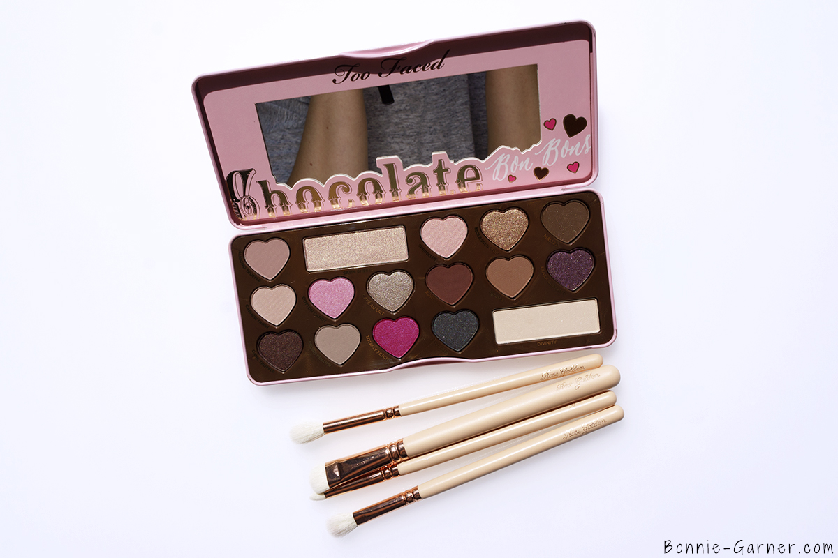 Too Faced Chocolate Bon Bons eyeshadow palette, ZOEVA brushes