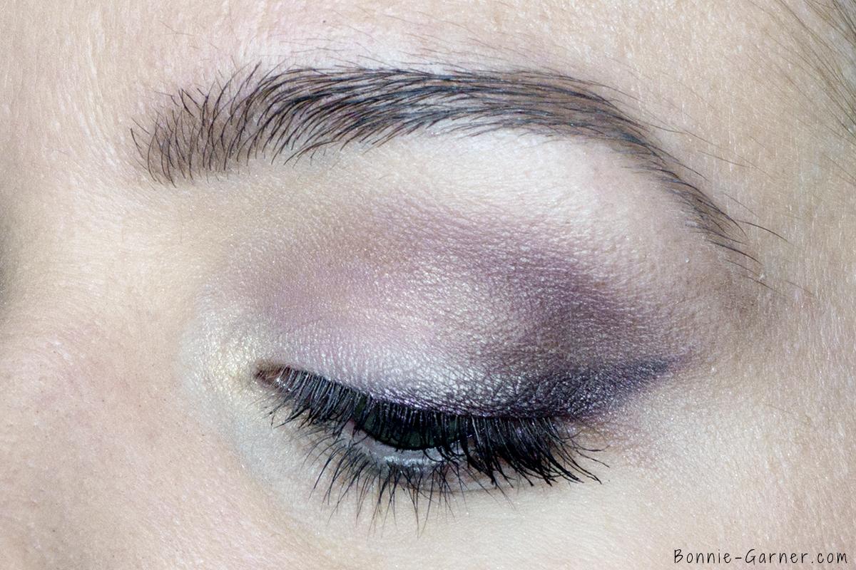 Too Faced Chocolate Bon Bons eyeshadow palette makeup look: Divinity, Almond Truffle, Sprinkles, Dark Truffle, Black Currant, Satin Sheets