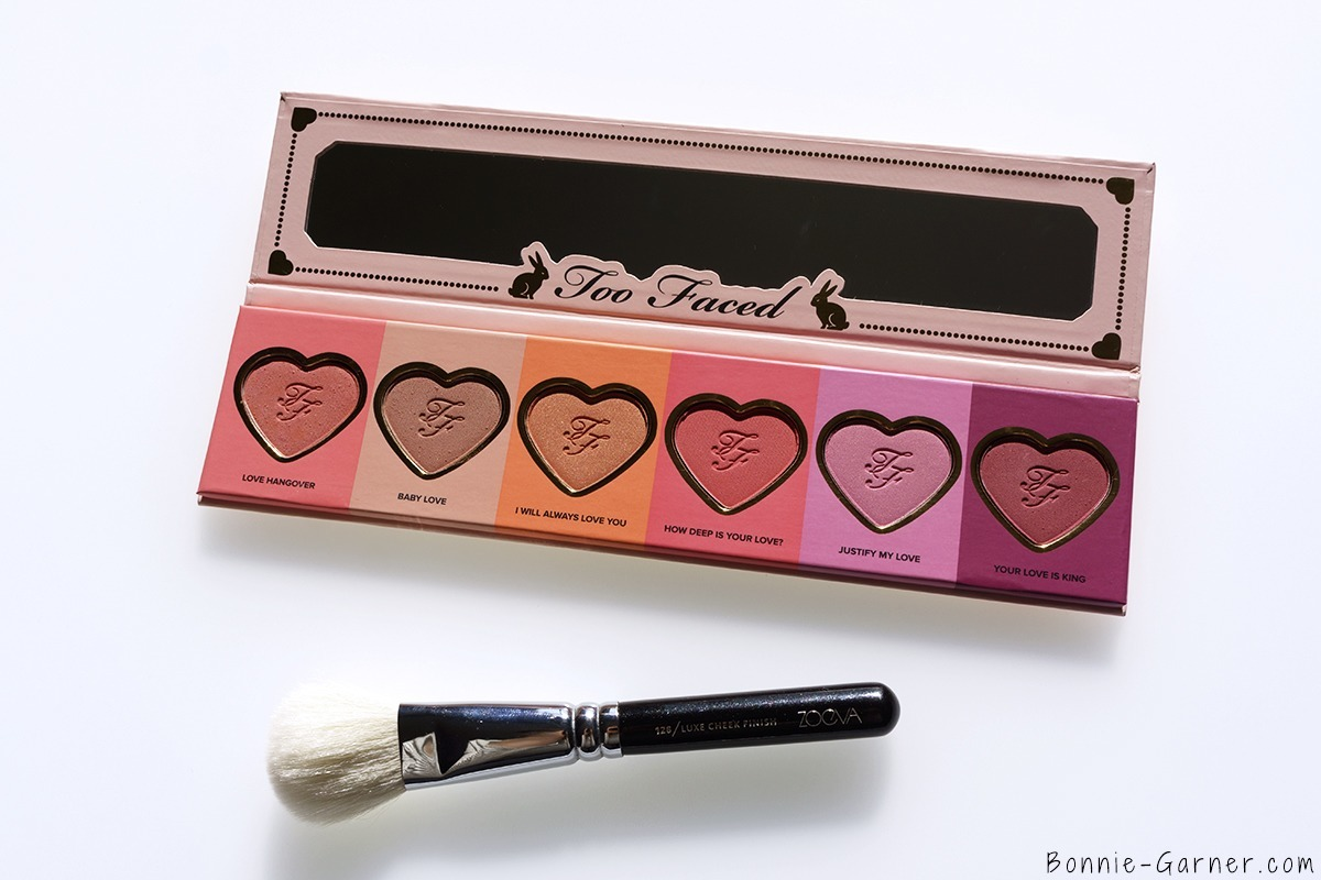 Too Faced Love Flush Blush palette, Zoeva Blush Brush