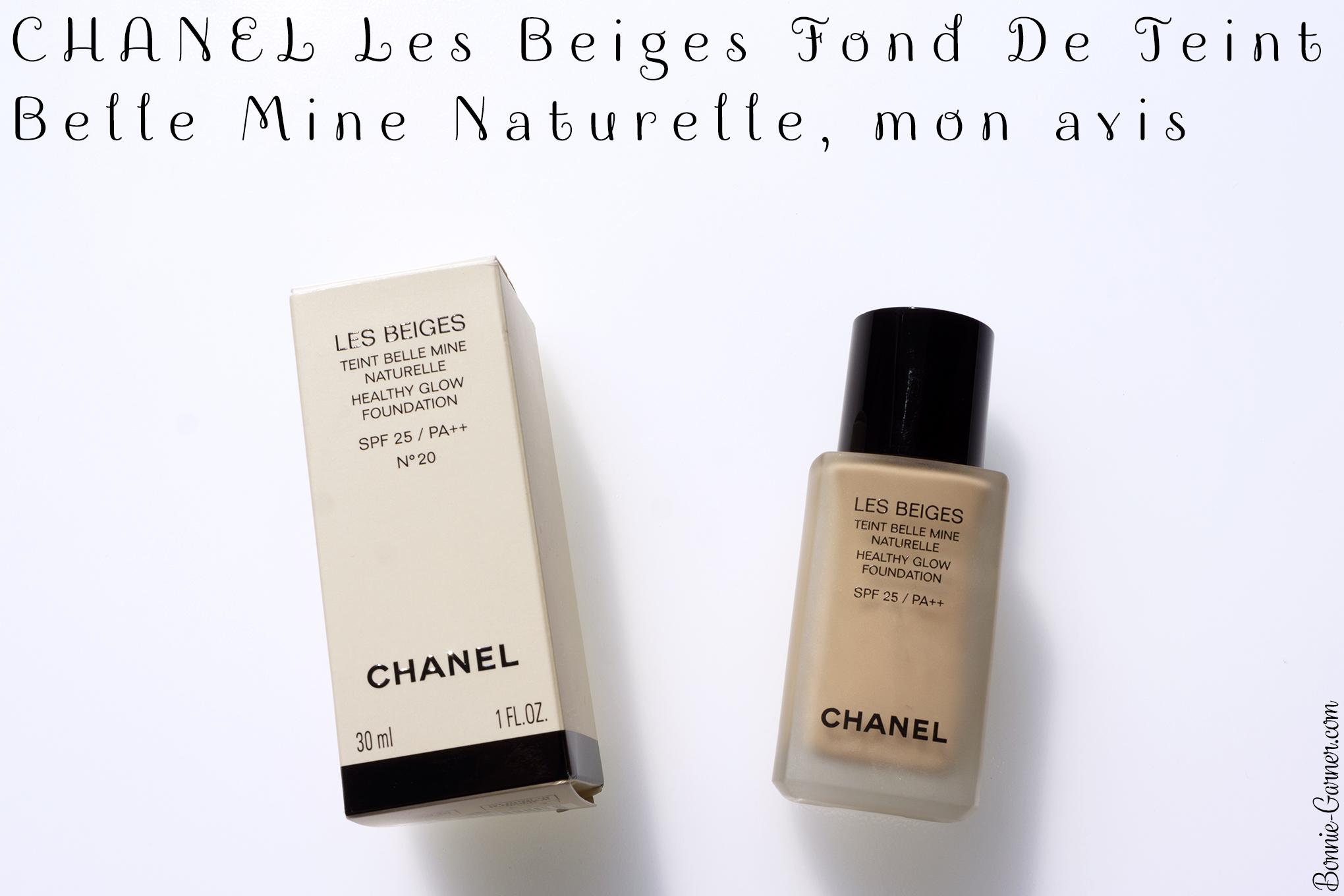 CHANEL Les Beiges Fond De Teint Belle Mine Naturelle, mon avis