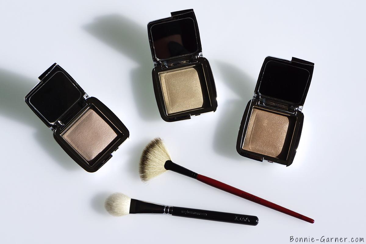 Hourglass Ambient Strobe Lighting Powder Incandescent, Brilliant, Euphoric, ZOEVA & Smashbox makeup brushes