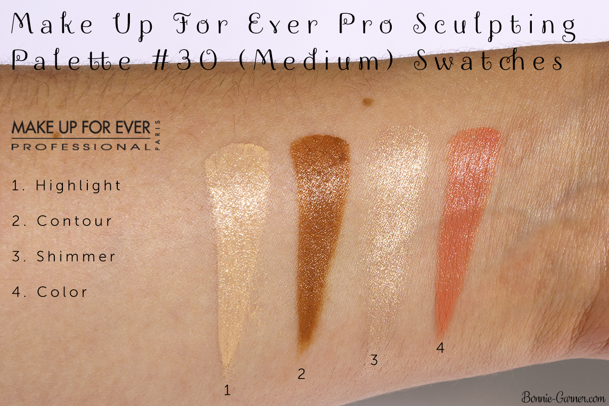 Make Up For Ever Pro Sculpting Palette #30 (Medium) swatches