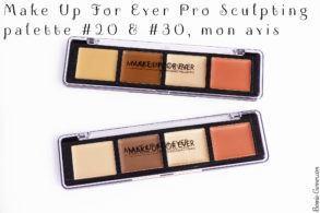 Make Up For Ever Pro Sculpting Palette #20 & #30, mon avis