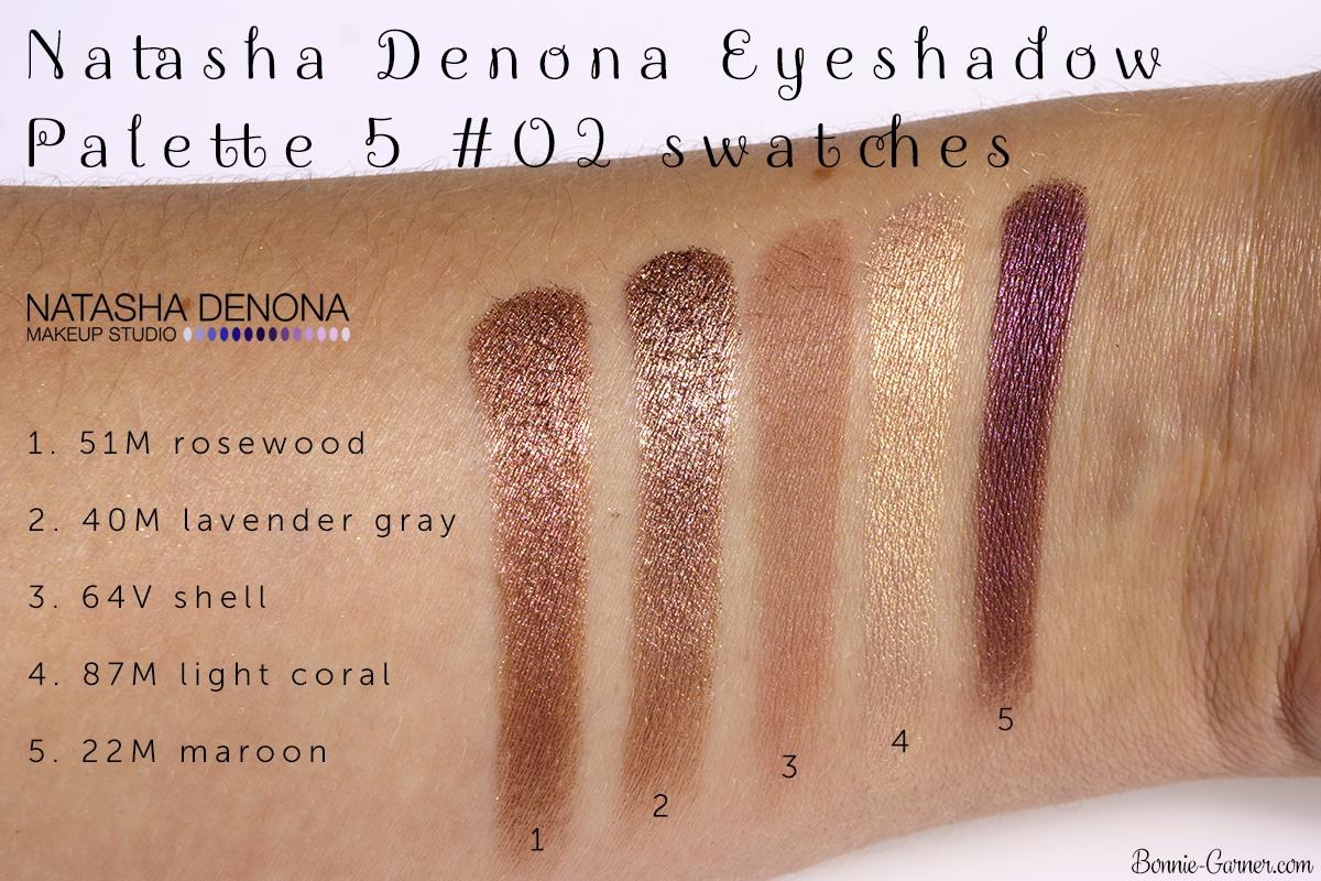 Natasha Denona Eyeshadow Palette 5 #02 swatches