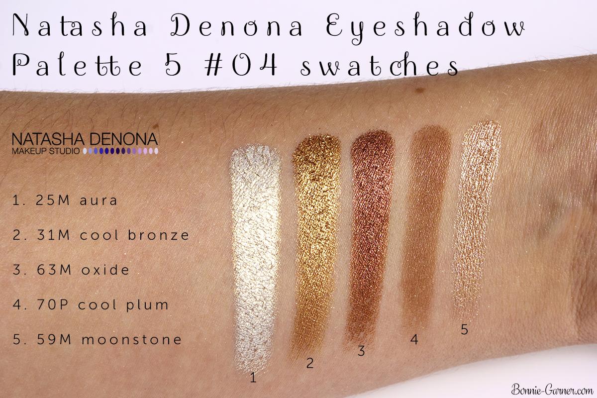 Natasha Denona Eyeshadow Palette 5 #04 swatches