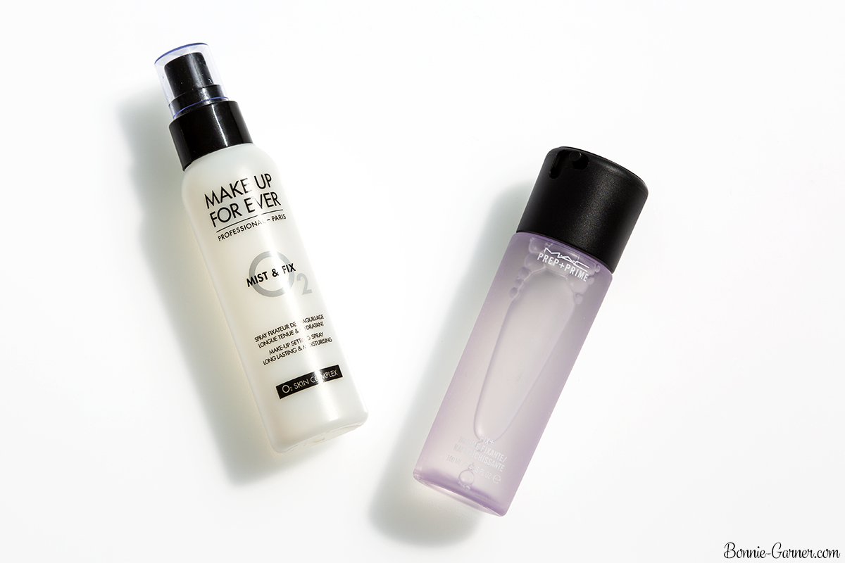 Makeup setting sprays: MAC, MUFE