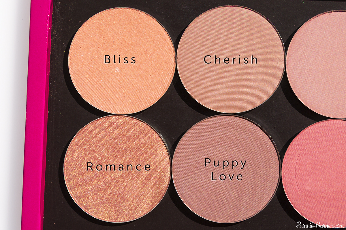 Makeup Geek blushes: Bliss, Cherish, Puppy Love, Romance